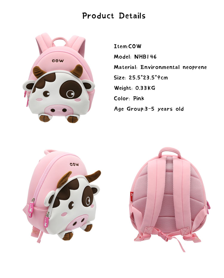 3d kids zoo animal backpack