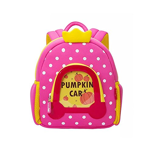 Nohoo 3d Pumpkin Car Kids Backpack Cartoon Children Pumpkin Car